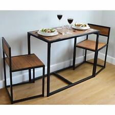 Dining Table and 2 Chairs Set 2 Person Space Saving Compact  Home Furniture New