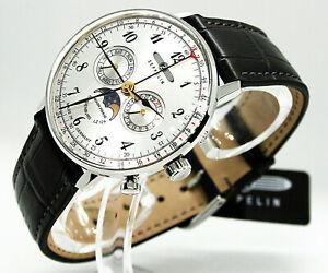 ✅ Zeppelin Herrenuhr Hindenburg Mondphase Armbanduhr 7036-1 ✅