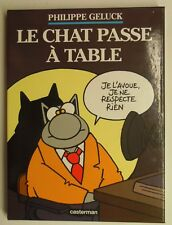 LE CHAT PASSE A TABLE GELUCK  cartonnage EO