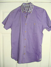 Ted Baker Men's Fitted Short Sleeve Casual Shirts & Tops