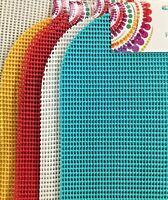 "Set of 4 PVC Vinyl Waffle Weave Placemats None Slip Various Color 13""x18"" New"