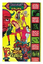 THE ACID EATERS movie poster CULT CLASSIC 1968 colorful adult unique 24X36