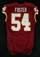 #54 Mason Foster of Washington Redskins NFL Locker Room Game Issued Jersey