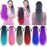 Synthetic Wavy Ponytail Long Curly Pony Tail Clip In Hair Extensions For Women