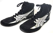 Rare Asics Cael V4.0 Black Black Gray Silver Wrestling Shoes - Size 12 J901Y