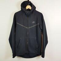 NIKE Mens Size S Black Tech Fleece Hoodie Jacket