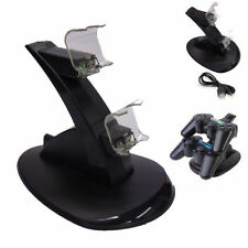 Dual Charging Charger Dock Stand USB Playstation 4 PS4 LED Controller Station