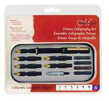 MANUSCRIPT DELUXE CALLIGRAPHY FOUNTAIN PEN 6 ITALIC NIBS INK CARTRIDGES GIFT SET