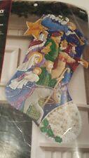 "BUCILLA""THE PROCESSION""~18""Christmas Felt Stocking KIT-86055-RARE Jesus Nativity"