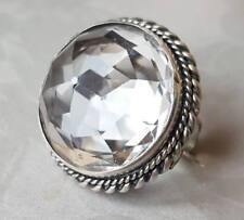 Plata Antiguo Cristal De Roca Cuarzo Broche Pin