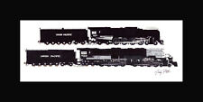 "Union Pacific Big Boy 4014/844 10""x17"" print in 10""x20"" Mat Andy Fletcher signed"