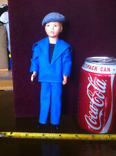 1950's Plastic Doll Figure Very Old Blue Navy Man
