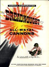1958 PAPER AD 4 PG Dreadnaught All Metal Toy Super Harvill Cannon Sky Raider