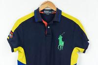 Ralph Lauren Polo Shirt Big Ponny Blue Custom Fit Mens Size S