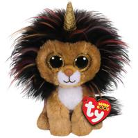 "2018 Ty Beanie Boos 6"" RAMSEY Lion w/ Horn Stuffed Animal Plush w/ Ty Heart Tags"