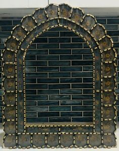 Federal 19th Century Gold Gilt Carved Reverse Painted Glass Wall Mirror Frame