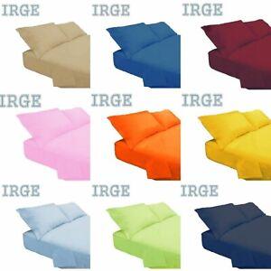 Completo lenzuola Tinta unita Irge in puro cotone - varie dimensioni AA369