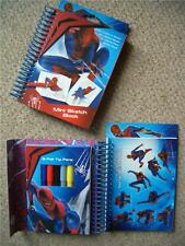 Spiderman Mini Sketch Colouring Book Set Stickers Party Loot Bag Fillers Gift
