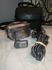 New ListingSony Handycam Dcr-Dvd305 Camcorder w/ Case, Battery, Charger, Microphone