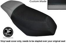 BLACK AND GREY CUSTOM FOR MALAGUTI PHANTOM F12 100 DUAL SEAT COVER ONLY