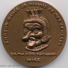 BRONZE MEDAL ~ SA MAJESTE CARNAVAL NICE by Monnaie De Paris