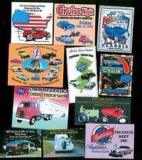 """Car Show 100 Custom 1""""x3"""" Full Color Dash Plaques"""