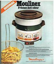 Publicité Advertising 1978 La Friteuse électrique Moulinex anti-Odeur