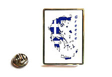 GREECE GREEK FLAG MAP LAPEL PIN BADGE TIE PIN GIFT