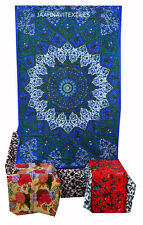 Traditional Indian Star Wall Hanging Tapestries Bedspread 100% Cotton Handmade