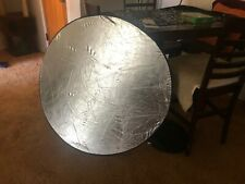 """Two (2) Reflectors 5 in 1 Photography Studio Multi Photo 43"""" Disc Excellent Cond"""