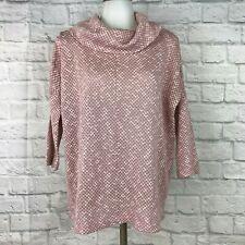 LOFT Women's Medium Knit Top Pink Cowl Neck