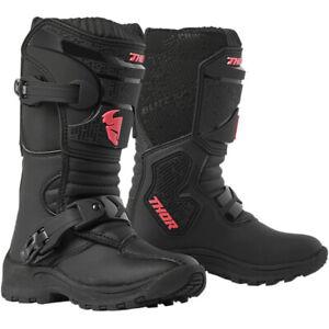 Thor Blitz XP Mini Child Off road Motocross Boot Black / Pink
