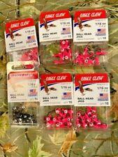 5 packs 1/16 OZ + 1 PKS 1/8 OZ   LEAD  JIGS  pink /black  10 ct  NEW IN PACKS