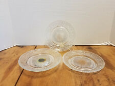 3 pc. Vintage Sandwich Tiara Glassware Bread plates & Serving dish