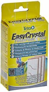 Tetra EasyCrystal FilterPack C 100 Filter Cartridges with Active Carbon, Pack of
