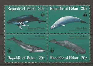 Palau 1983 WWF Fauna Wildlife Marinelife Fisch Fish Whale compl. set MNH