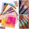 US 16Pcs Holographic Fire Flame Hollow Stickers Fires Stickers Manicure Nail Art