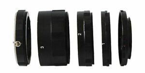Macro Extension Tube Ring Set For Sony Alpha A AF Minolta MA Camera UK Seller