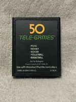 UNTESTED Pong Sports 50 Tele-Games for Atari 2600 GAME ONLY