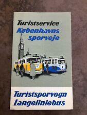 More details for 1960s copenhagen tourist tramway fold out leaflet
