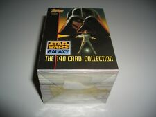 STAR WARS RARE TOPPS 1993 GALAXY 1 COMPLETE SET OF 140 CARDS IN MINT CONDITION..