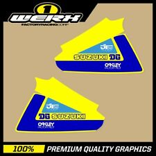 SUZUKI RM250 RM400 1979-80 EVO MX DECALS TANK GRAPHICS STICKERS FACTORY DG
