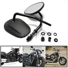 Black Matte Motorcycle Side Mirrors For Harley Davidson Sportster XL 883 1200