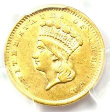 1856 Indian Gold Dollar (G$1 Coin) - Certified PCGS AU Detail - Rare Coin!