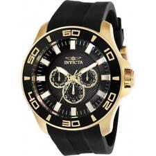 Invicta Men's Watch Pro Diver Chronograph Black Dial Rubber Strap 28001
