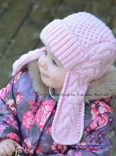 Tejer patrón-Winterberry Earflap Hat (Niño a Niño Tamaños)