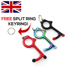 Hands-Free Door Opener Key Chain w/ Stylus - Contactless Hygienic Protection UK