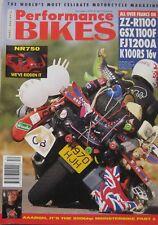 Performance Bikes magazine December 1991 featuring Suzuki, Yamaha, Kawasaki, BMW