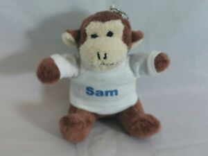 Personalised name Monkey keyring ideal gift for a friend