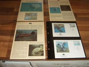WWF Republique Togolaise Manatee 1/10/84 set 4 UM stamps and 4 first Day covers